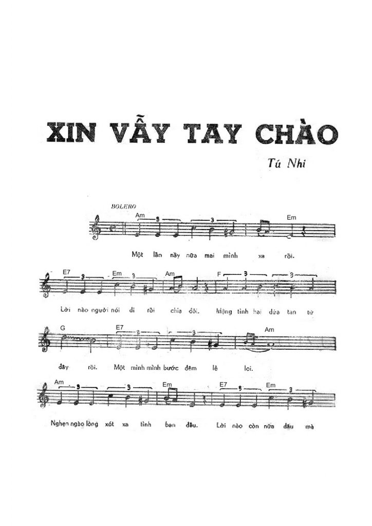 Xin Vẫy Tay Chào - Karaoke ( Beat Nam ) - YouTube